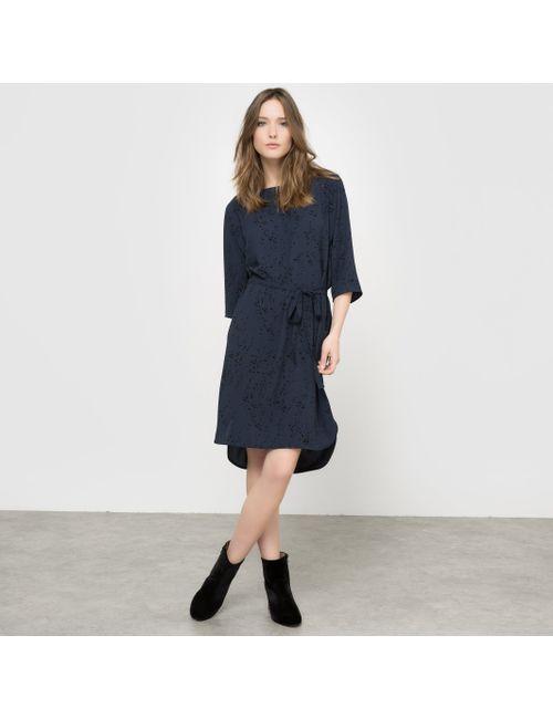 ICHI | Женское Синее Платье С Рисунком