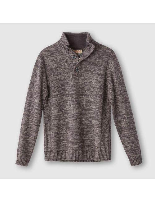 PETROL INDUSTRIES | Мужской Бежевый Пуловер С Высоким Воротником 100 Хлопка