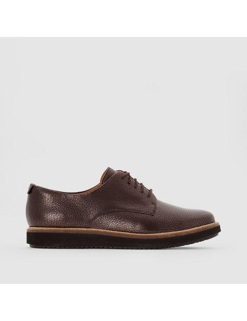 Clarks | Женские Бронзовые Ботинки-Дерби Кожаные Glick Darby