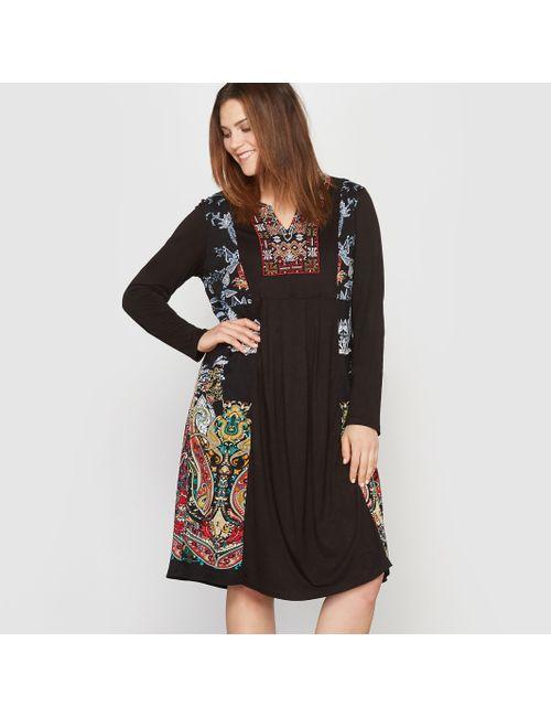 CASTALUNA | Женское Рисунок Платочное Платье Длинное Из Джерси С Вышивкой