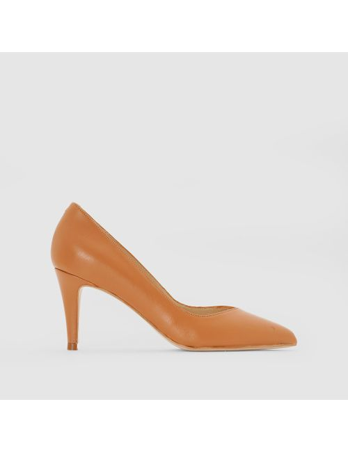 JONAK | Женские Бежевые Туфли Кожаные На Каблуке Alain
