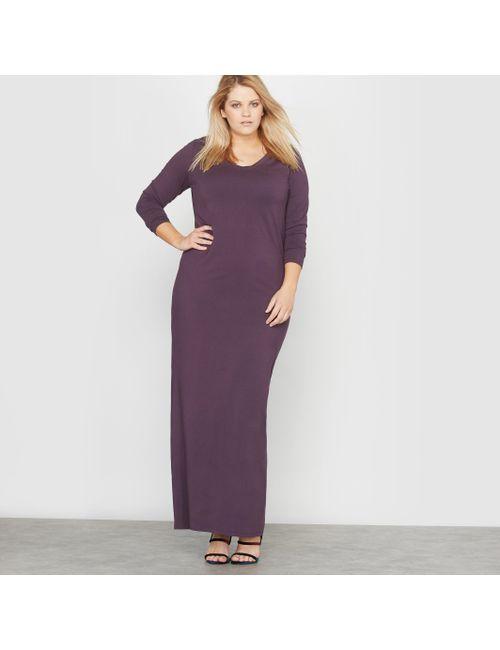 CASTALUNA | Женское Фиолетовое Платье Длинное Трикотажное