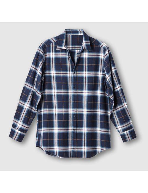 CASTALUNA FOR MEN | Мужская Синяя Рубашка Фланелевая В Клетку