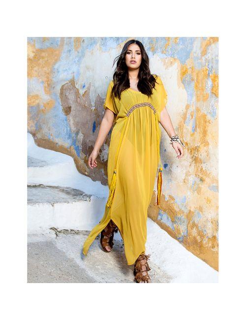 Mat Fashion | Женское Жёлтое Платье