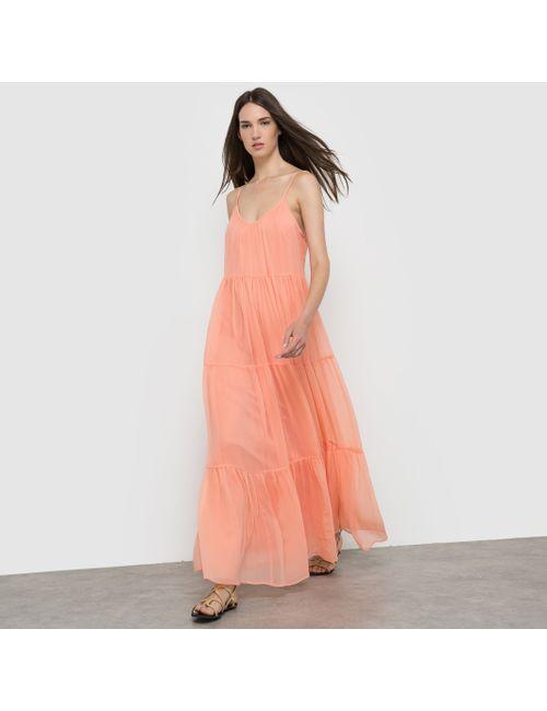 Vila | Женское Бежевое Длинное Платье Vibotanical Maxi Dress
