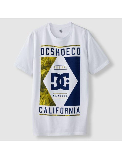 Dcshoes | Мужская Синяя Футболка С Графичным Рисунком