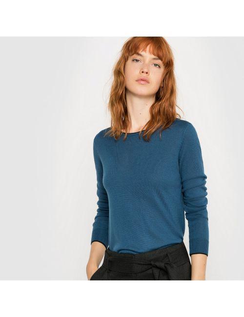 R essentiel | Женский Синий Пуловер С Круглым Вырезом