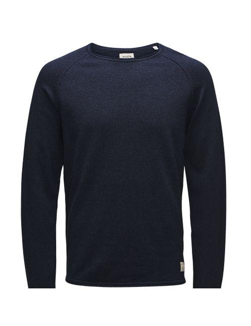 Jack & Jones Vintage   Мужской Синий Пуловер Union