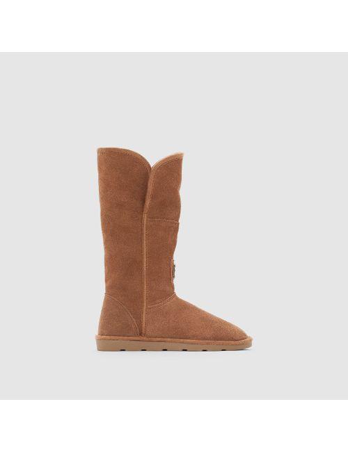 LES TROPEZIENNES PAR M.BELARBI | Женские Бежевые Ботинки Кожаные На Плоском Каблуке Arctique