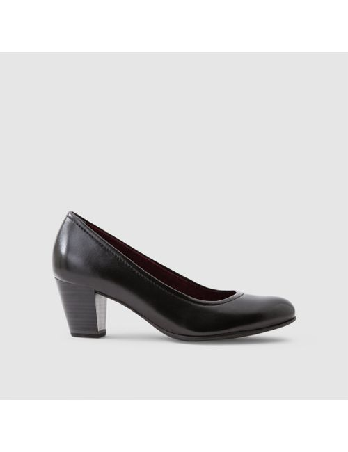 Tamaris | Женские Чёрные Туфли Из Гладкой Кожи