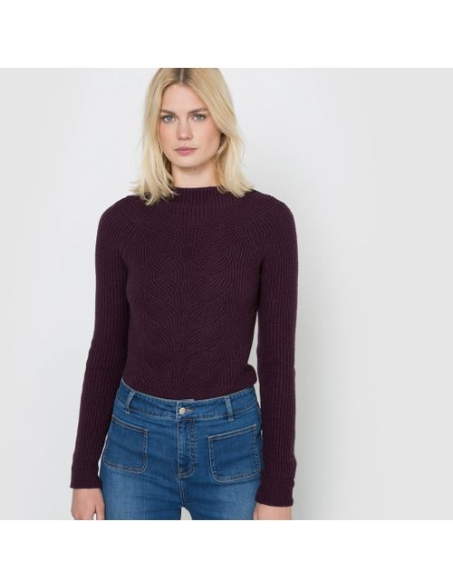 R studio   Женский Фиолетовый Пуловер Из Рифленого Трикотажа