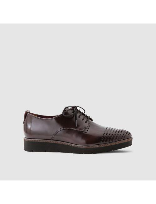 Tamaris | Женские Красные Ботинки-Дерби Лакированные