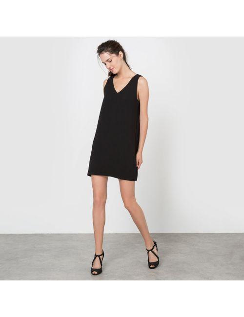 Molly Bracken | Женское Чёрное Платье Прямого Покроя Декольтированное Без Рукавов