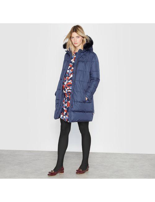 R essentiel | Женская Синяя Куртка Стёганая С Капюшоном Для Беременных