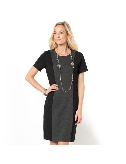 ANNE WEYBURN | Женское Чёрное Платье Прямое