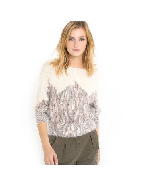 SOFT GREY | Женский Серый Пуловер Фасона Летучая Мышь