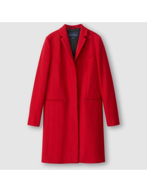 French Connection | Женское Чёрное Пальто Platform Felt Ls Classic Coat