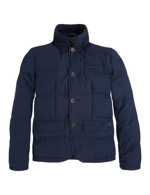 Pepe Jeans | Мужская Синяя Стеганая Куртка Mardem Из Льна И Хлопка