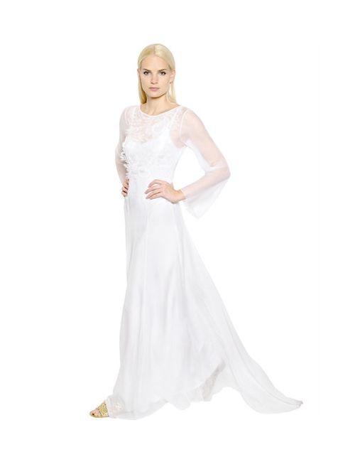 Alberta Ferretti | Женское Платье Из Шёлкового Шифона И Кружева