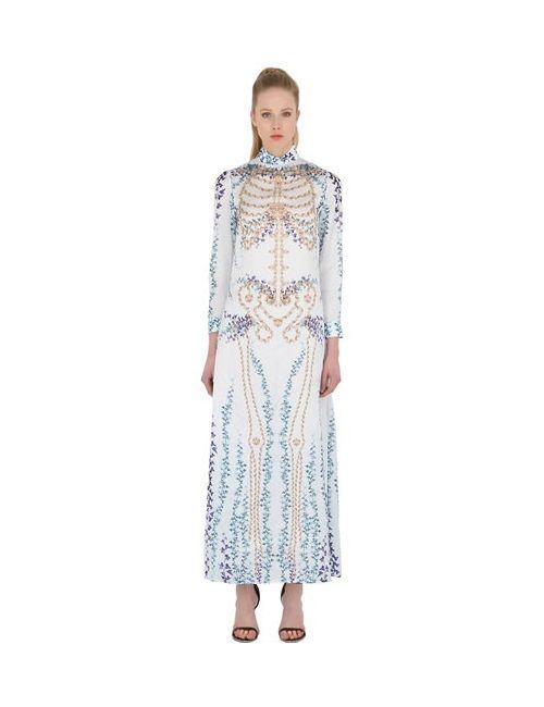 DAGDA | Женское Платье Из Техноатласа С Принтом Skeleton Ivy