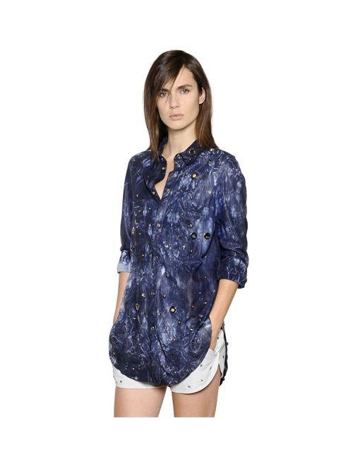 Drome | Женская Рубашка Из Кожи Наппа С Люверсами И