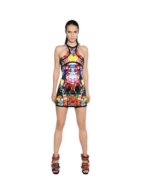 Dsquared2 | Женское Платье Из Скуба С Принтом Exotic