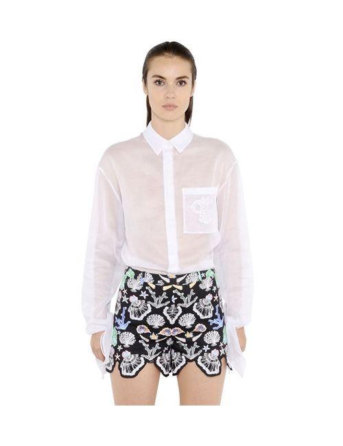 Emilio Pucci | Женская Рубашка Из Хлопковой Органзы С Логотипом