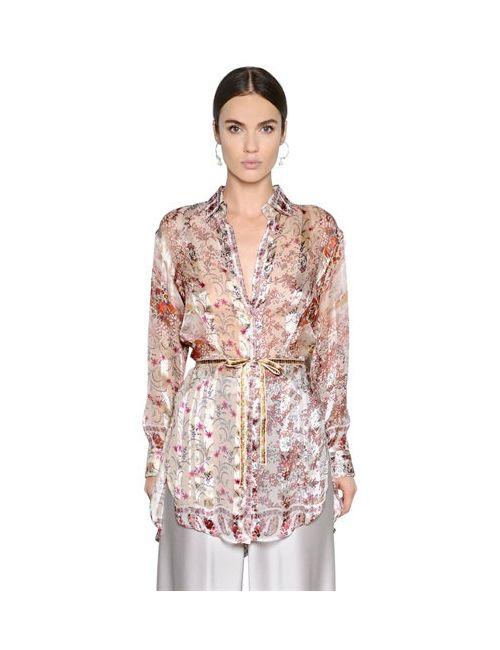 Etro   Женская Рубашка Из Шёлкового Жоржета