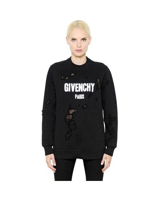 Givenchy | Женские Свитшот Из Хлопкового Джерси С Логотипом
