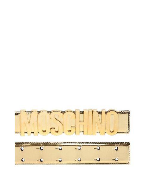 Moschino | Женский Кожаный Ремень Logo Lettering
