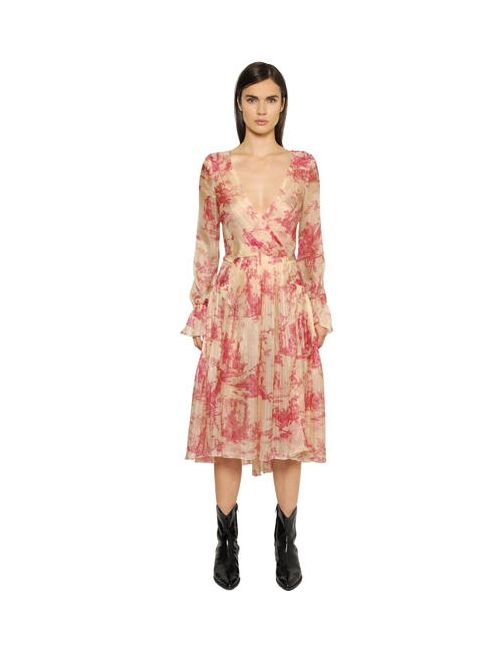 Philosophy di Lorenzo Serafini | Женское Платье Toile De Jouy Из Шёлкового Шифона
