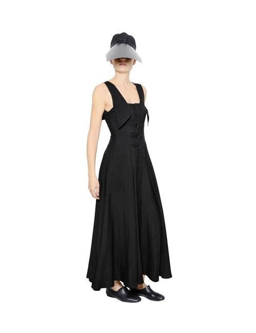 Yohji Yamamoto | Женское Платье Из Вискозы И Хлопкового Газа