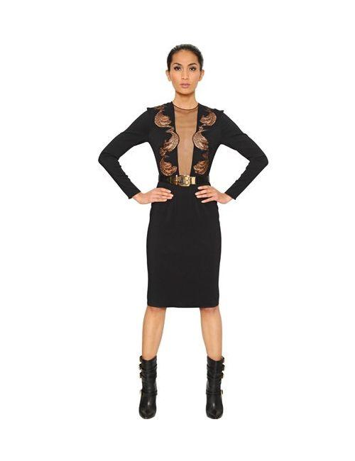 Francesco Scognamiglio | Женское Платье Из Вискозного Джерси С Кружевом