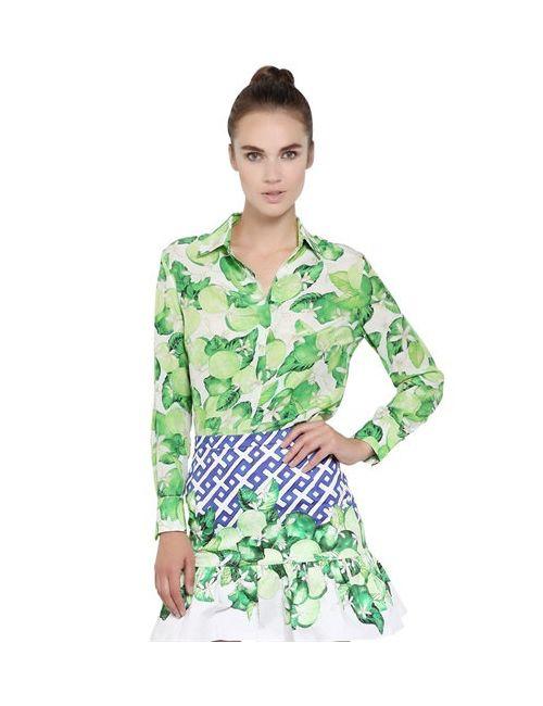 Isolda   Женская Рубашка Из Шелкового Крепа С Принтом