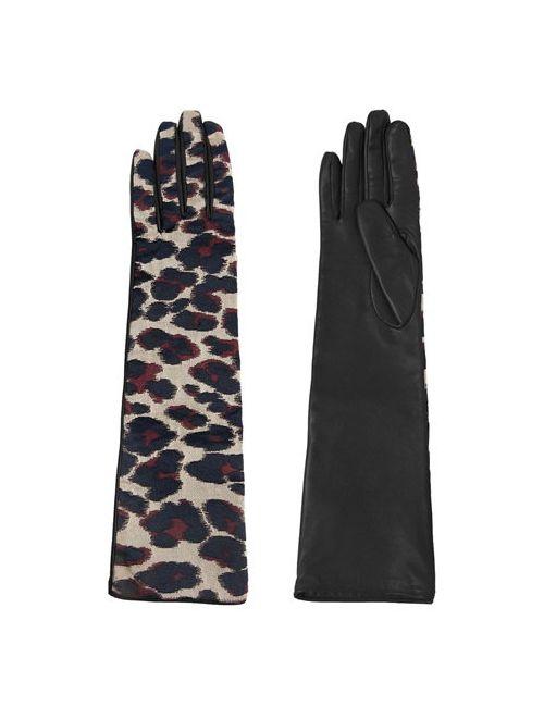 Lanvin | Женские Перчатки Из Хлопка И Кожи Наппа