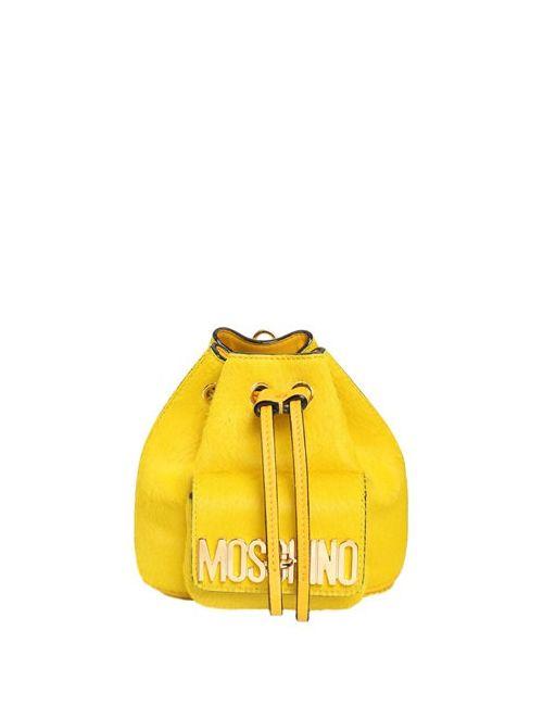 Moschino | Женский Рюкзак Из Кожаного Материала С Ворсом
