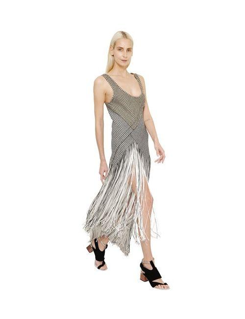 Proenza Schouler | Женское Платье Fringed Houndstooth