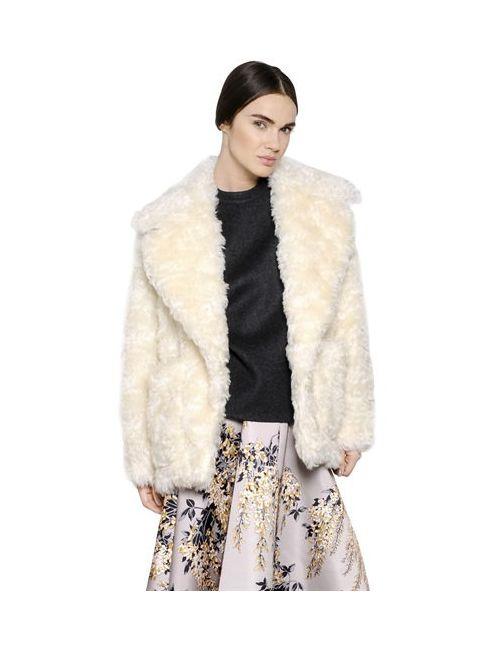 Rochas | Женское Пальто Из Шерсти Мохер И Овечьего Меха