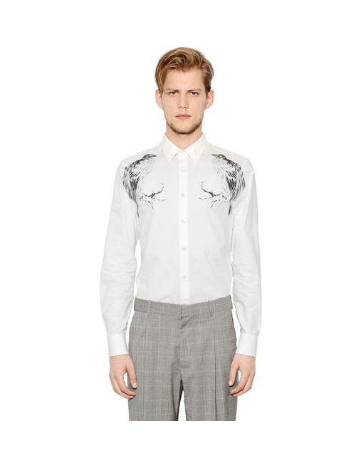 Alexander McQueen | Мужская Рубашка Из Хлопкового Поплин
