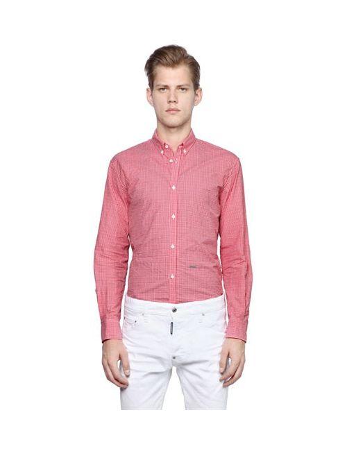 Dsquared2   Мужская Рубашка Из Хлопкового Поплин В Клетку