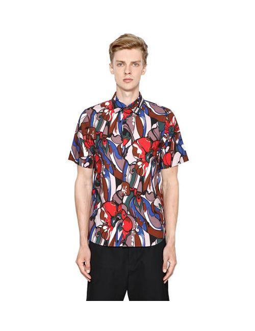 Marni | Мужская Рубашка Из Хлопкового Поплин С Цветочным Принтом