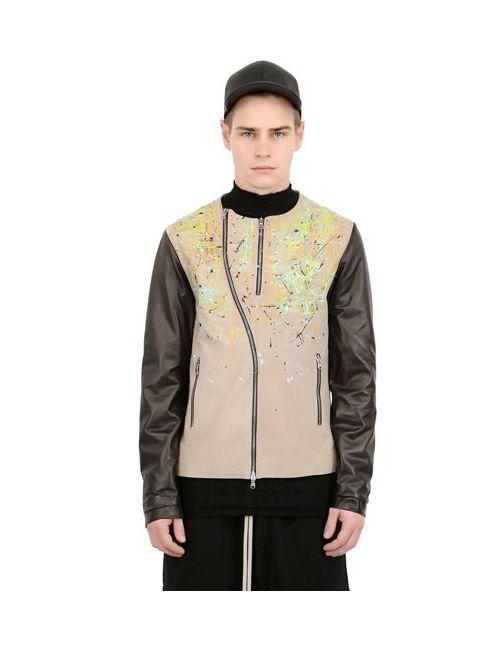 BLACK DIONISO | Мужская Кожаная Куртка В Мотостиле