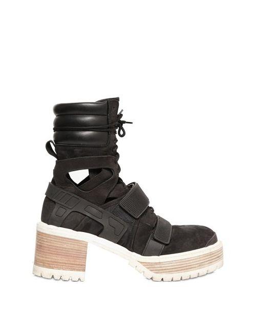 HBA  HOOD BY AIR | Мужские Ботинки Из Замши И Кожи 60mm
