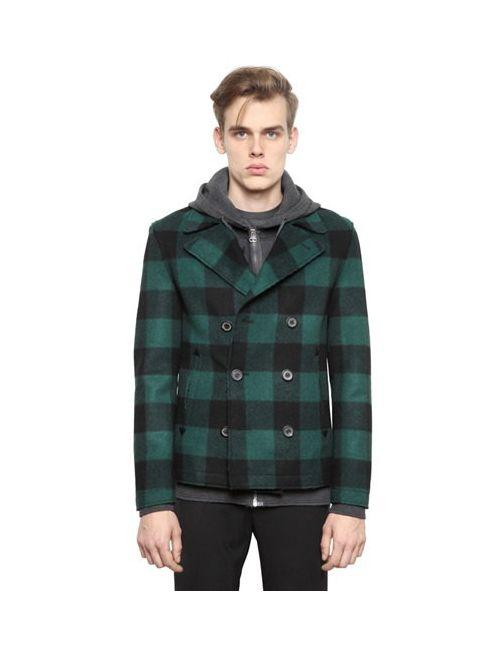Lanvin | Мужское Двубортное Шерстяное Пальто В Клетку
