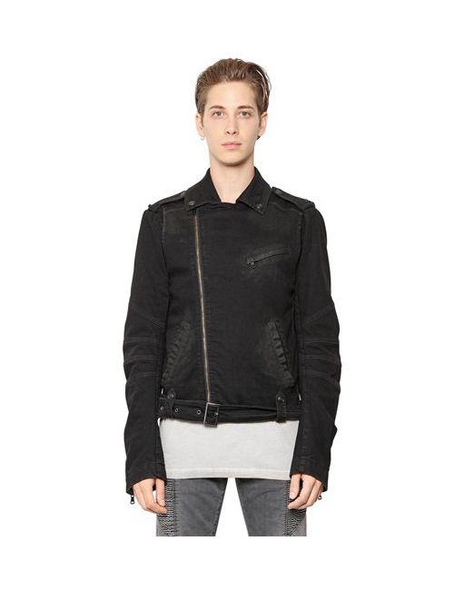 Pierre Balmain | Мужская Куртка В Мотостиле Из Хлопкового Стрейч Деним