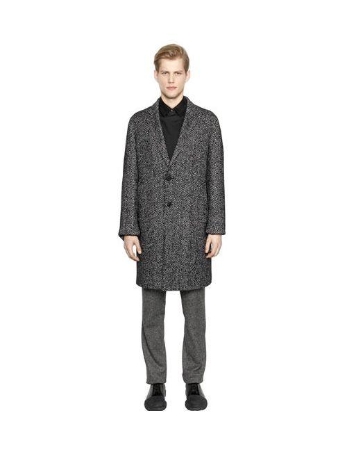 Wooyoungmi   Мужское Пальто Из Смески Шёлка И Шерсти