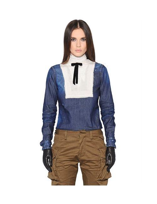 Dsquared2 | Женская Рубашка Из Шёлка И Стретч Деним С