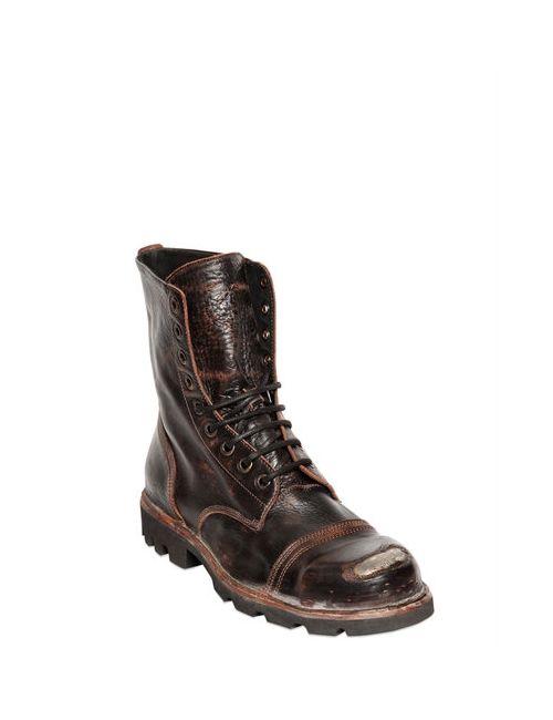 Diesel   Мужские Кожаные Ботинки С Винтажным Эффектом