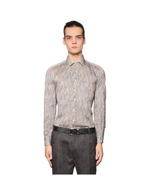 Etro | Мужская Хлопковая Рубашка В Волнистую Полоску