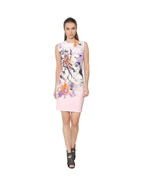 Roberto Cavalli | Женское Платье Из Стретч Кади С Принтом